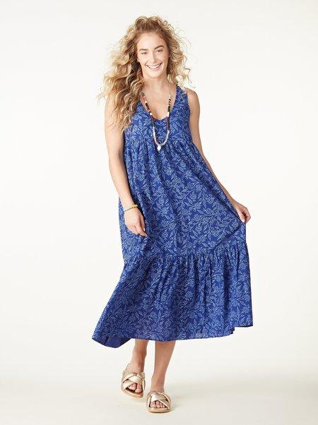 Rachel Pally Cotton Amelia Dress - Indigo Block