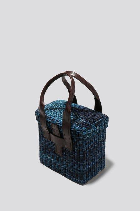 Rachel Comey Mini Straw Picnic Tote - Blue