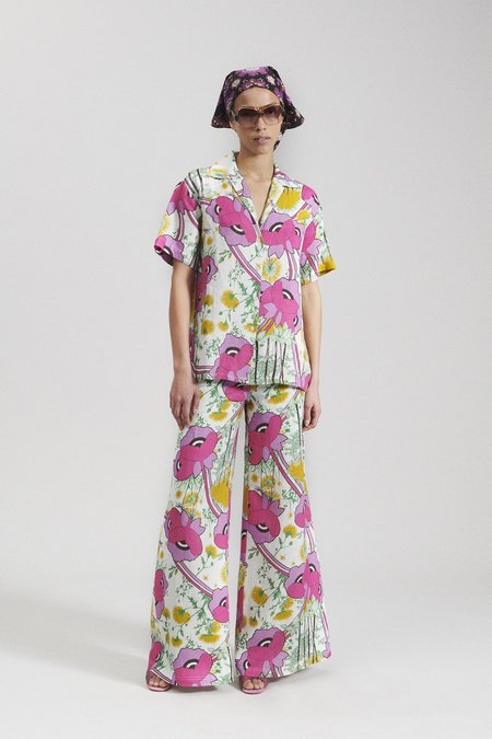 Rachel Comey Ross Linen Top - Multi Poppy