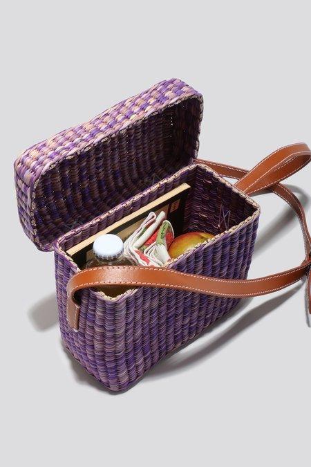 Rachel Comey Straw Lunchbox - Purple
