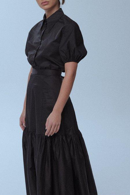 baaby Puff Sleeve Shirt - BLACK