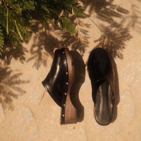 Mari Giudicelli Urca Clog - Black Calfskin