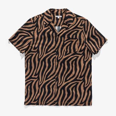 Banks Journal Stranger S/S Woven Shirt - brown/Black