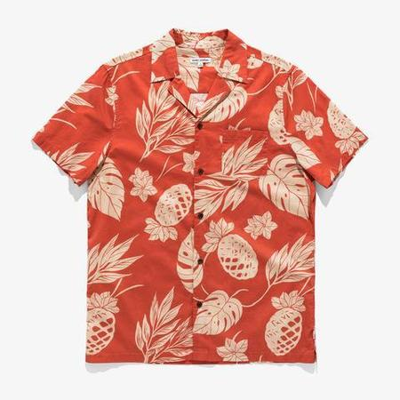 Banks Journal Vibes S/S Woven Shirt - washed red