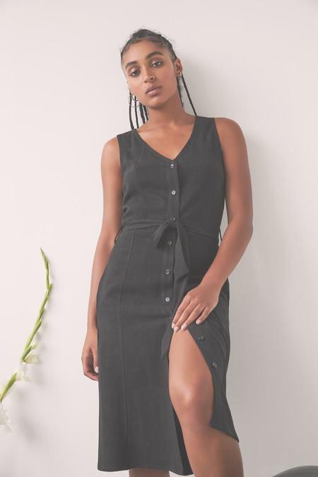 Eve Gravel Utopia Dress - Black