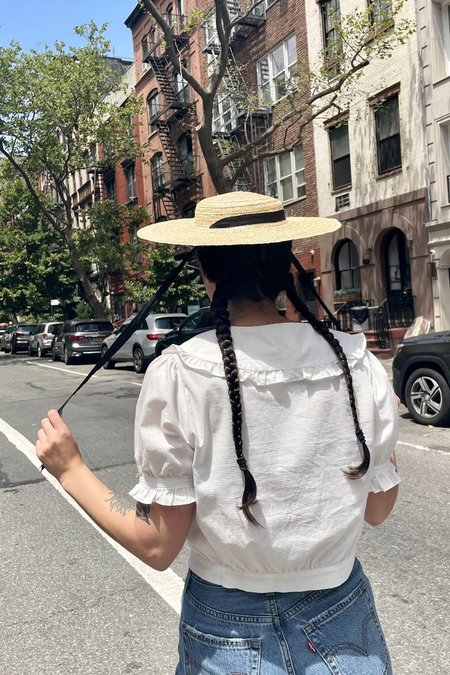 Cloak and Dagger NYC Straw Hat With Ribbon