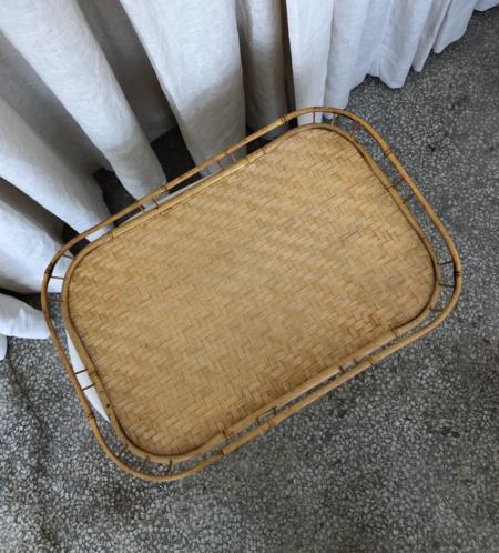 Vintage Large Wicker Tray