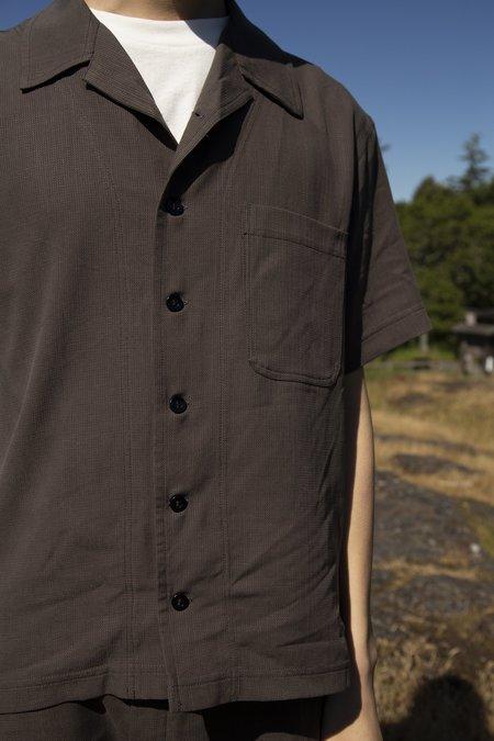 FOUR HORSEMEN Tencel Camp Shirt - Olive