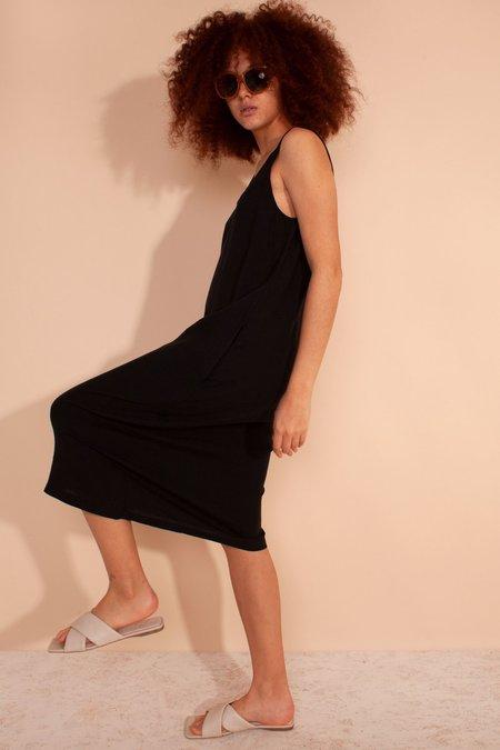 L.F.Markey Basic Linen Shift Dress - Black