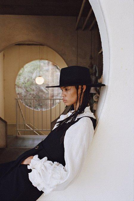 Unisex Lack of Color Mirage Hat - Black