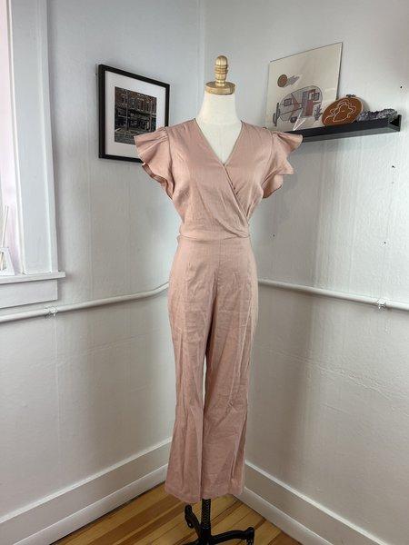 [Pre-loved] Rachel Parcell Linen Blend Jumpsuit - Pink