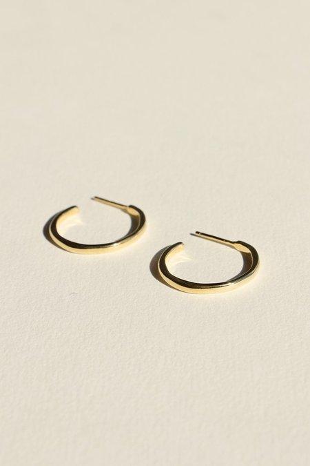 BRIE LEON 925 Organica Stud Hoop Earrings - Gold