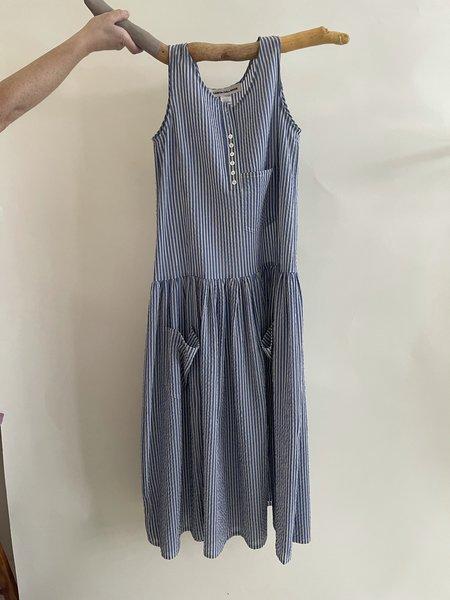 Caron Callahan Myrtle Dress - Blue Gauze