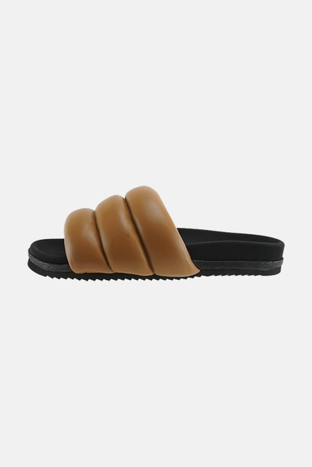 Roam Women's Puffy Slide Shoes - Cognac