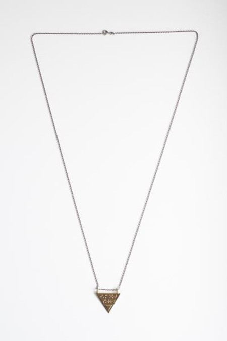 Covet + Keep Kate Braille Silver/Brass Necklace