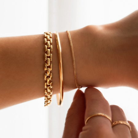 Leah Alexandra Gold Panther Chain Bracelet - Gold plated