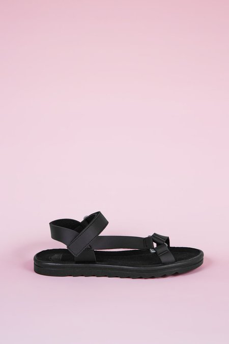 """INTENTIONALLY __________."" Transfer Sandals - Black"