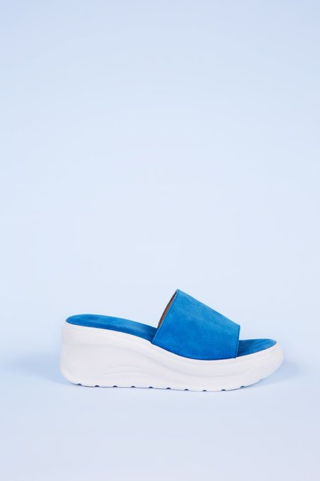 """""""INTENTIONALLY __________."""" Yes Please Sandals - Turquoise"""