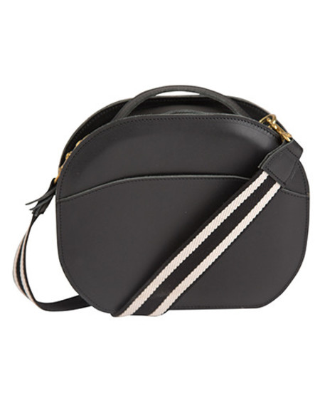 Oliveve nina canteen bag in black saddle leather