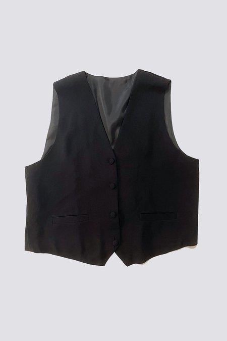 Vintage Suiting Vest - Black