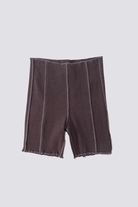 Woodrose Deli Inside Out Biker Short - Charcoal black/lavender