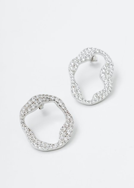 DEPARTMENT Cell Division B Earring - White Gold