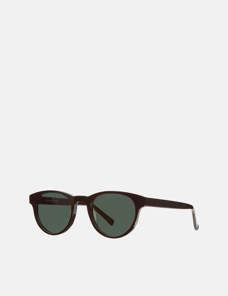 YMC x Bridges & Brows Bubs Sunglasses - Black/Solid Green