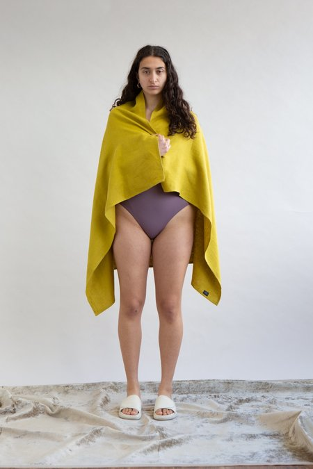 WOLF & GYPSY VINTAGE Citrine Linen Towel - Yellow