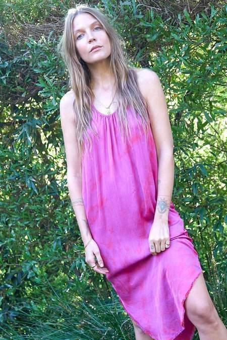 Aquarius Cocktail Luna Tank Dress - Hot Pink