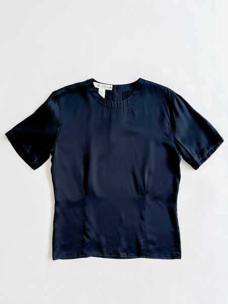 Vintage Relaxed Silk Shirt - Midnight