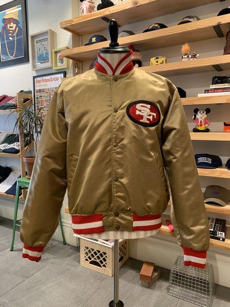 Vintage Tilted Brim 90s Satin Starter 49ers Jacket - Gold/Red,/White