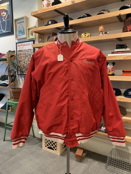 Vintage Tilted Brim Custom Varsity Harvey Jacket - Red/White
