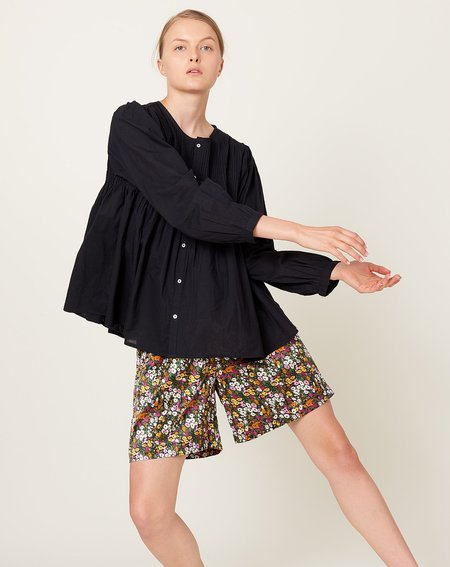 ICHI ANTIQUITES Khadi Cotton Shirt - Black