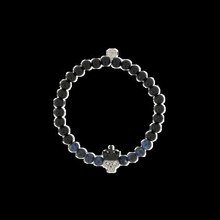 Tateossian Stainless Steel Skull King Bead Plain BR1287 Bracelet