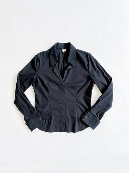 Vintage Armani Fitted Blouse - Black
