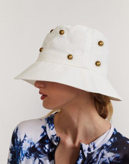 Cynthia Rowley Studded Bucket Hat - white