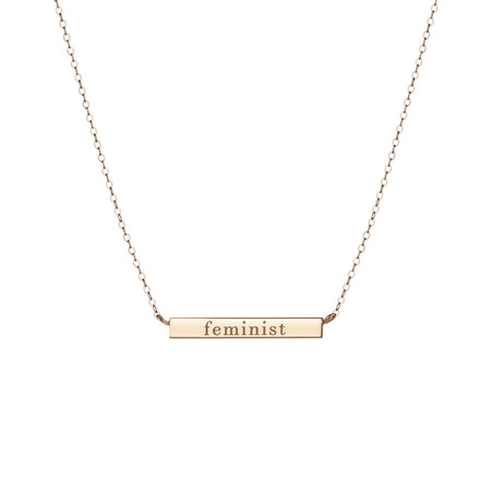 Shahla Karimi Feminist Bar Necklace