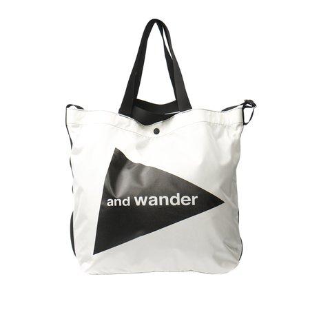 and wander CORDURA LOGO TOTE BAG - WHITE