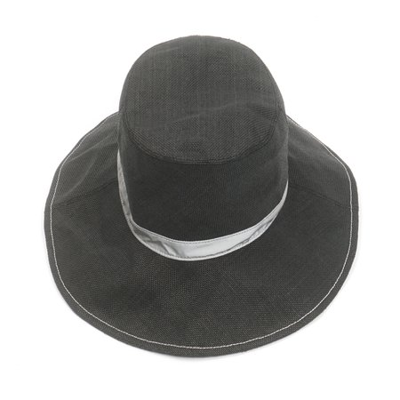 and wander PAPER CLOTH HAT - BLACK