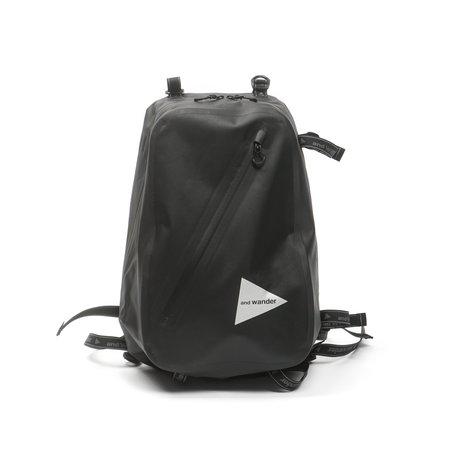 and wander WATERPROOF DAYPACK bag - BLACK