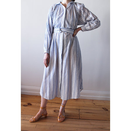 Apiece Apart Aberna Shirt Dress - Stripes