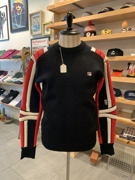 Vintage 80s Fila Italia Wool Ski Sweater - Balck