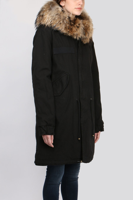Mr & Mrs Italy Army Parka Quilt Lining - Black