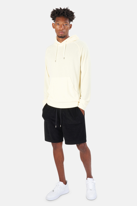 Blue&Cream Poolside Terry Pullover Hoodie Sweater - Beach Yellow