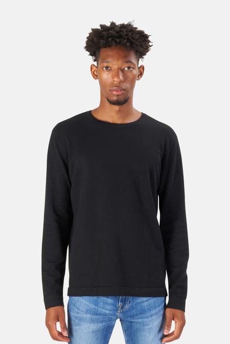Blue&Cream Reade Long Sleeve T-Shirt - Walnut Black Lead