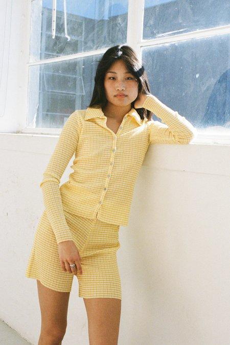PERMANENT VACATION Ritual Cardigan -Yellow