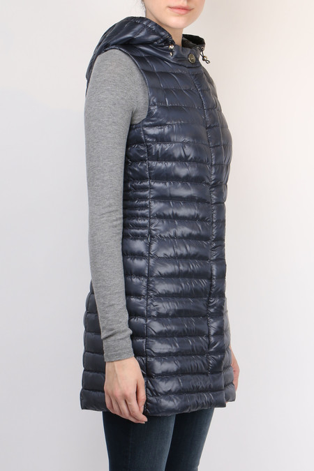Herno Long Fitted Down Vest - Midnight