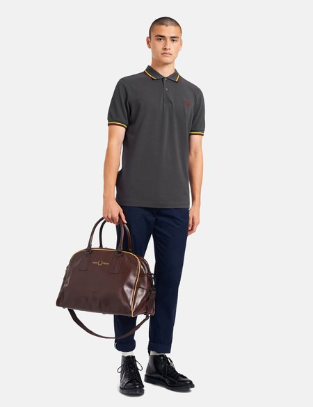 Fred Perry Twin Tipped Polo Shirt - Grey