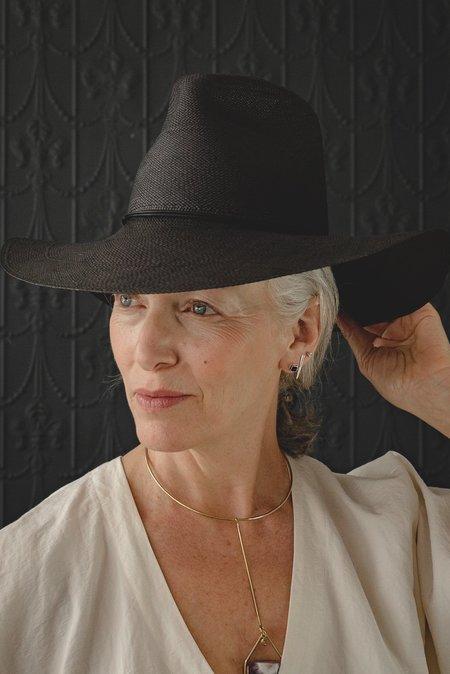 Brookes Boswell Wakefield hat - Panama Straw Black