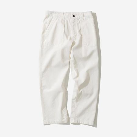Uniform Bridge Cotton Fatigue Pants - White